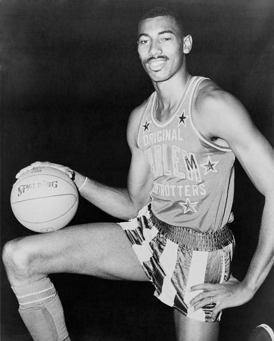 History Photograph - Wilt Chamberlain, Wearing Uniform by Everett