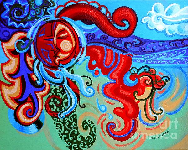 Sun Painting - Winding Sun by Genevieve Esson
