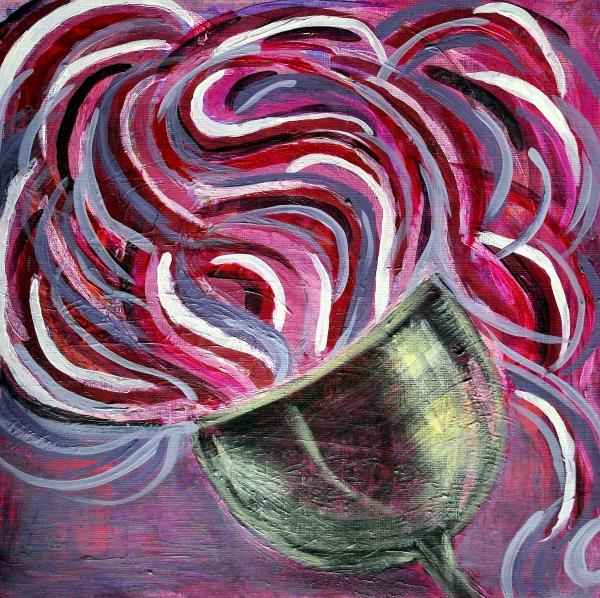 Purple Painting - Wine Swirl by Janice Gelona