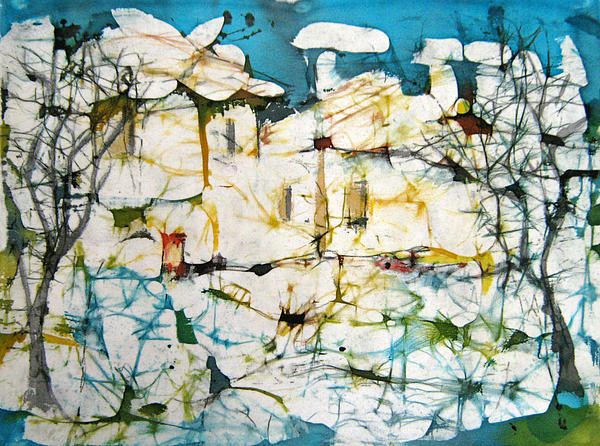 Landscape Painting - Winter by Nadejda Lilova