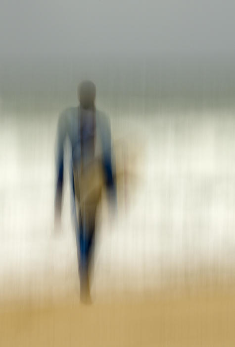 Blur Photograph - Winter Surfer by Barry Culling