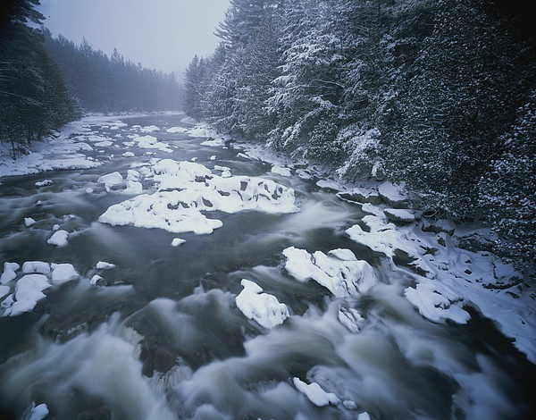 North America Photograph - Winter View Of The Ausable River by Michael Melford
