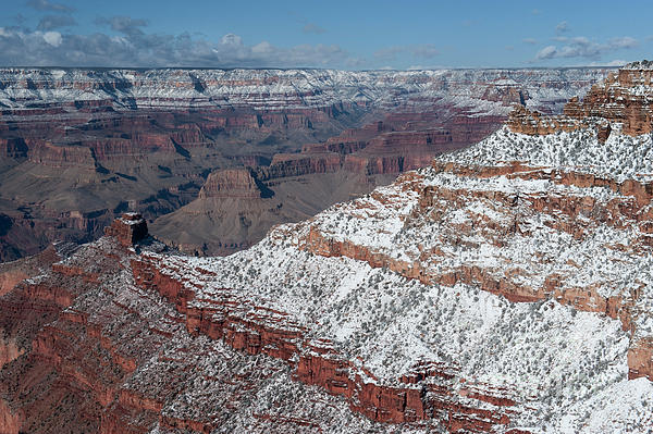 Grand Canyon Photograph - Winters Touch At The Grand Canyon by Sandra Bronstein
