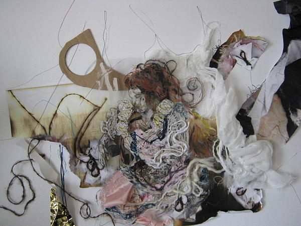 Woman In A Dream. Mixed Media by Cima Azimi