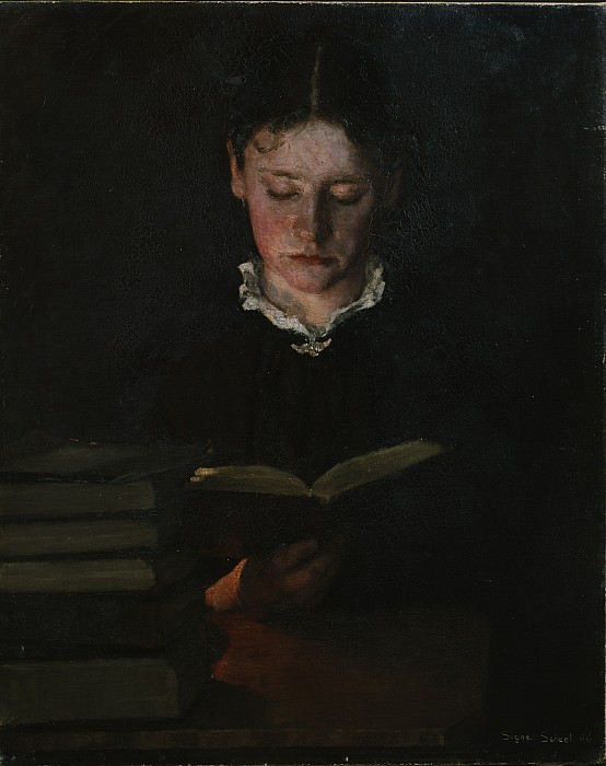 Woman Photograph - Woman Reading by Signe Scheel