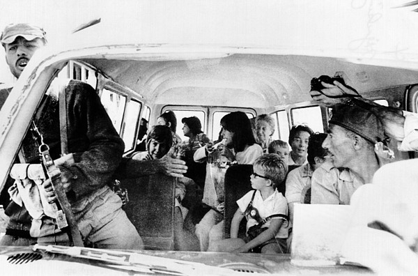 History Photograph - Women And Children Hostages by Everett