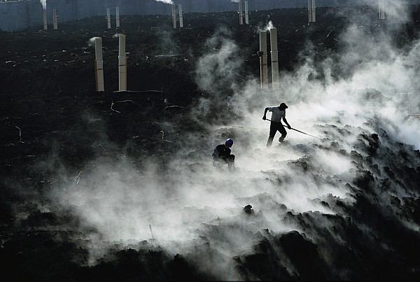 North America Photograph - Workers At The Blue Plains Waste Water by Robert Madden