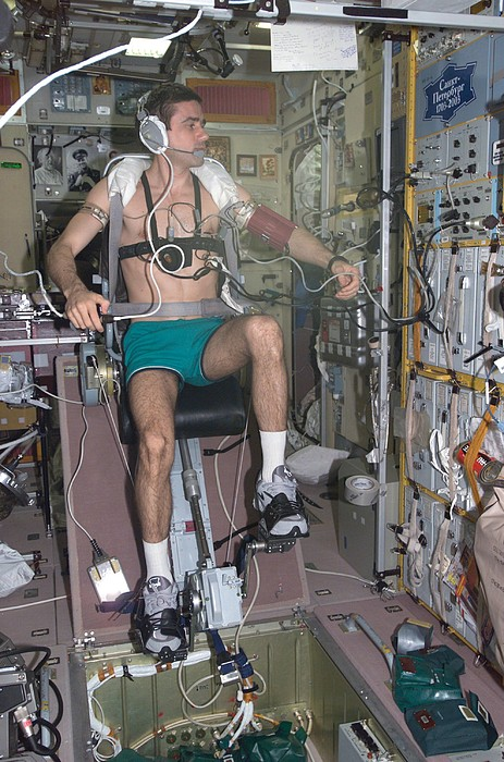History Photograph - Working Out In Space. Cosmonaut Yuri by Everett