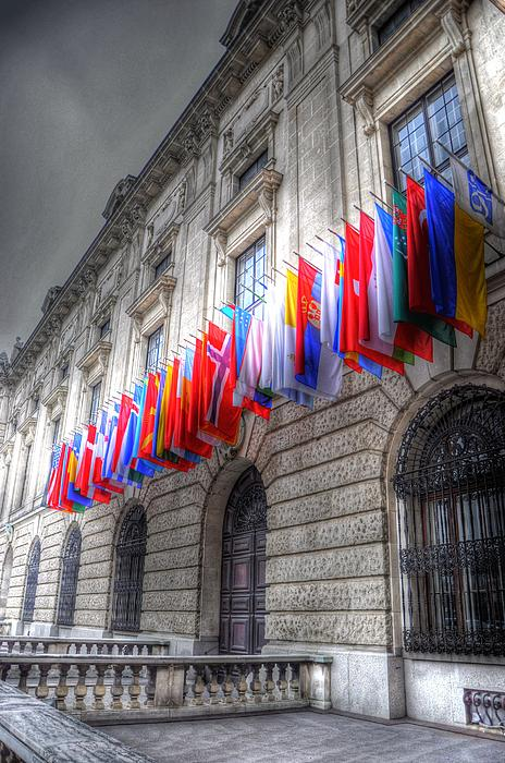 Prague Czech Republic Digital Art - World Flags by Barry R Jones Jr