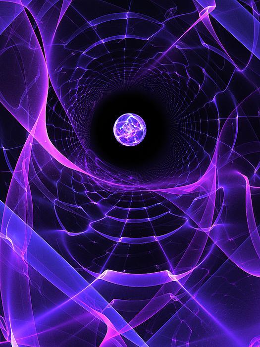 Space Digital Art - Wormhole by Pam Blackstone