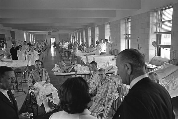 History Photograph - Wounded Vietnam Veterans. President by Everett