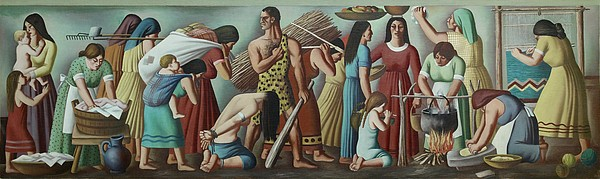 History Photograph - Wpa Mural. Contemporary Justice by Everett