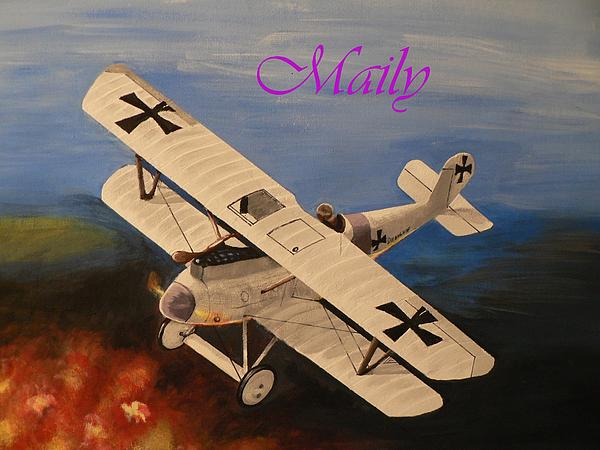 Airplane Painting - Wwi Aplane by Maily