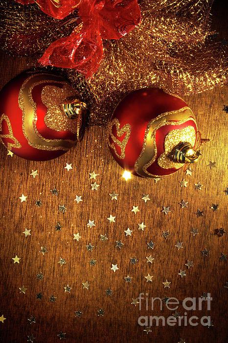 Abstract Photograph - Xmas Balls by Carlos Caetano