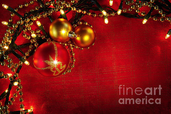 Backdrop Photograph - Xmas Frame by Carlos Caetano