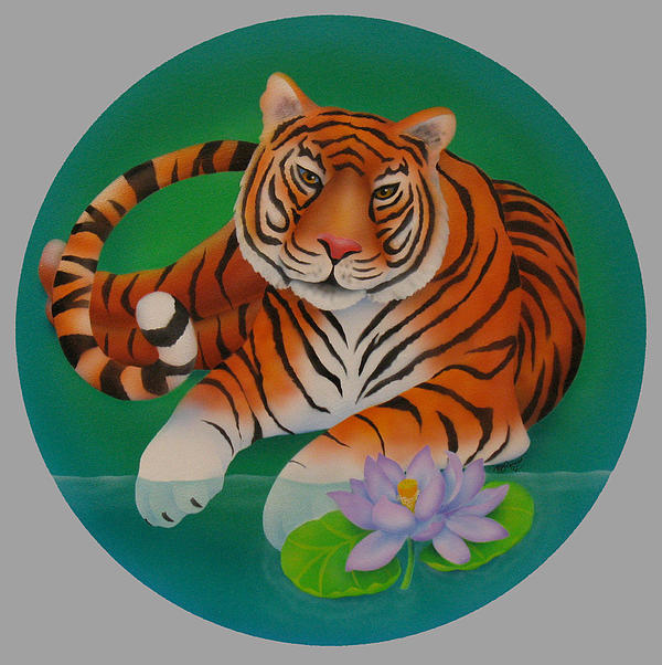 Chinese Zodiac Painting - Year Of The Tiger by Marcia  Perry