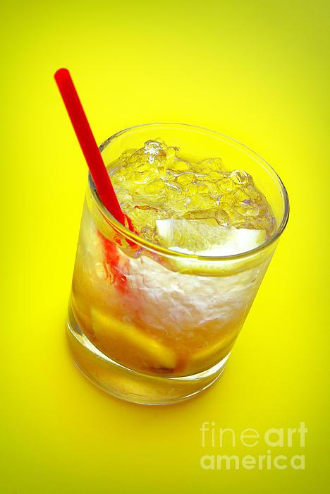Alcohol Photograph - Yellow Caipirinha by Carlos Caetano