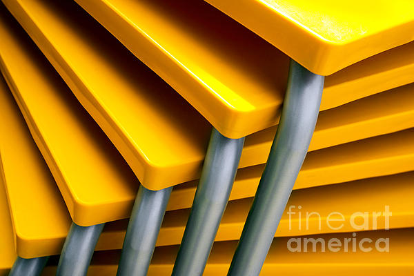 Amount Photograph - Yellow Tables by Carlos Caetano