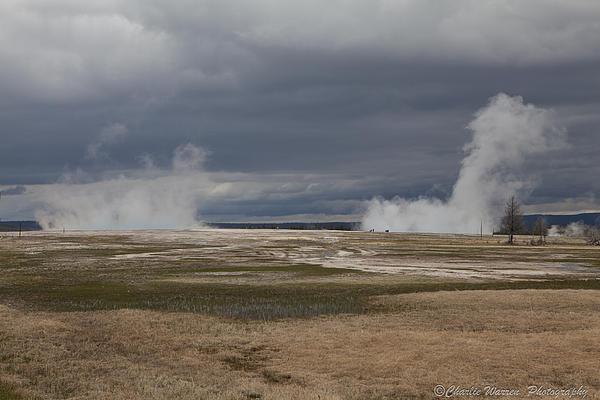 Geyser Photograph - Yellowstone Geysers2 by Charles Warren