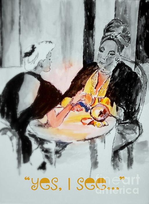 Gypsy Painting - Yes I See by Helena Bebirian