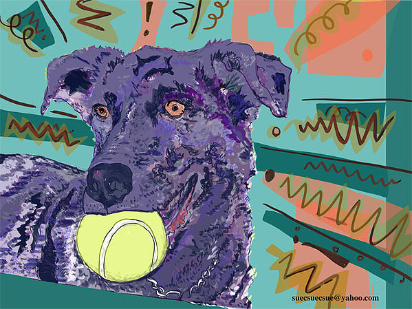 Puppy Dog Drawing - Yes Sashi We Know by Susie Morrison