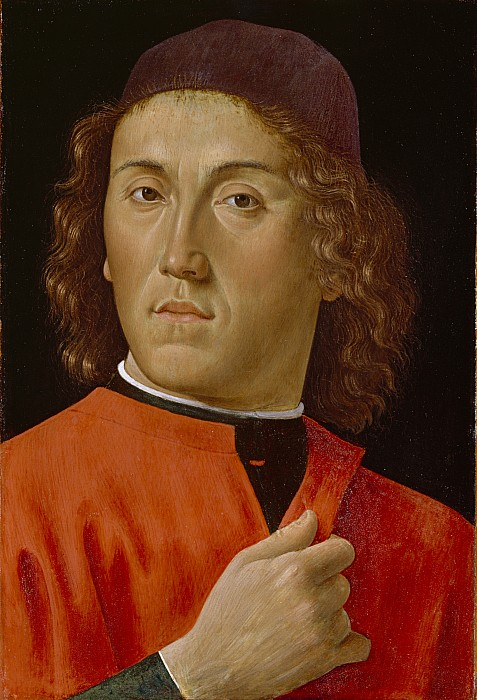 Young Painting - Young Man  by Domenico Ghirlandaio