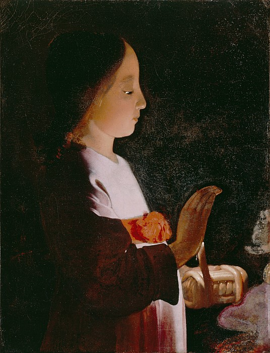 Young Photograph - Young Virgin Mary by Georges de la Tour