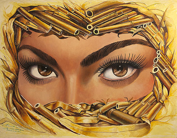Eyes Painting - Your Eyes by Makam  art