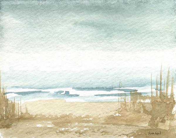 Lake Painting - Zen Landscape 1 by Sean Seal