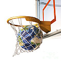 3d Rendering Of Planet Earth Falling by Leonello Calvetti
