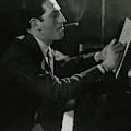 A Portrait Of George Gershwin At A Piano by Edward Steichen