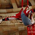 Aerial Ribbon Performer At Pennsylvanian Grand Rotunda by Amy Cicconi