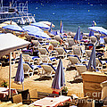 Beach In Cannes by Elena Elisseeva