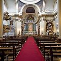 Church Of Santa Barbara Interior In Madrid by Artur Bogacki