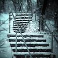 Snowy Stairway by Jill Battaglia