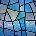 Stained Glass Background With Ice Flowers by Kiril Stanchev