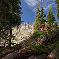 Steep Mountain Hike by Michael J Bauer
