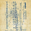 1908 Flute Patent - Vintage by Nikki Marie Smith