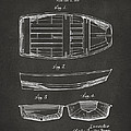 1938 Rowboat Patent Artwork - Gray by Nikki Marie Smith