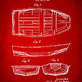 1938 Rowboat Patent Artwork - Red by Nikki Marie Smith
