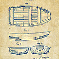 1938 Rowboat Patent Artwork - Vintage by Nikki Marie Smith