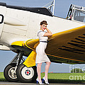 1940s Style Navy Pin-up Girl Leaning by Christian Kieffer