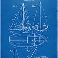 1948 Sailboat Patent Artwork - Blueprint by Nikki Marie Smith