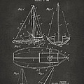 1948 Sailboat Patent Artwork - Gray by Nikki Marie Smith