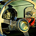 1956 Volkswagen Vw Bug Steering Wheel 2 by Jill Reger