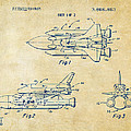 1975 Space Shuttle Patent - Vintage by Nikki Marie Smith