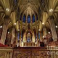 Inside St Patricks Cathedral New York City by Amy Cicconi