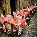 Restaurant Patio In France by Elena Elisseeva