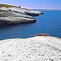White Chalk Cliffs Eroded Coastline by Dirk Ercken