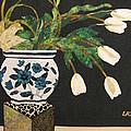 White Tulips by Lynda K Boardman